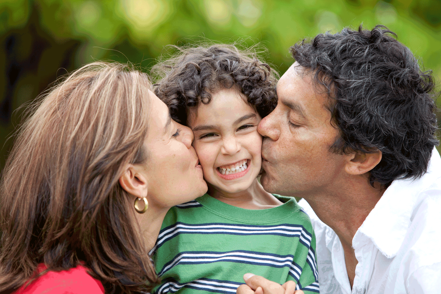 Image of a couple with child